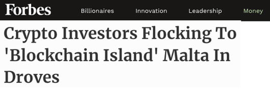 Crypto Investors Flocking To Blockchain Island Malta In Droves